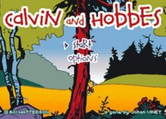 Calvin & Hobbes: The Video Game Start Menu