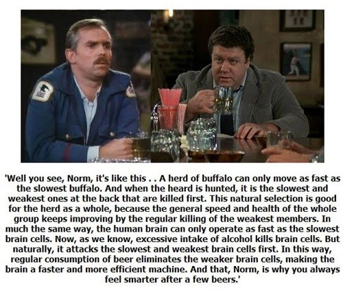 I love Cheers and this is my favorite quote