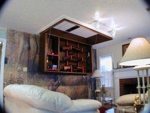 Secret Ceiling Gun Storage and Display | StashVault