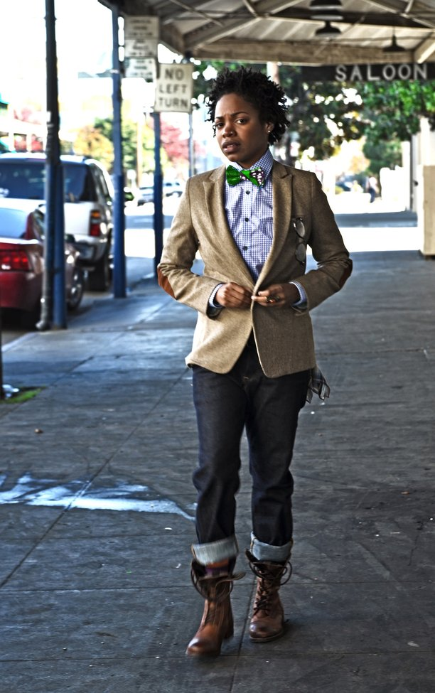 Bow tie and boots