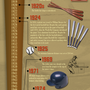 History Of The Baseball Bat Infographic
