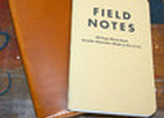 Leather Field Notes Holder in Cognac with White Stitching