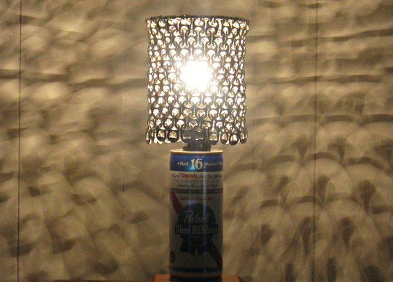 Pabst Blue Ribbon Beer Can Lamp | Cool Material