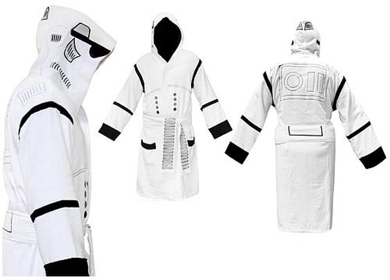 Star Wars Stormtrooper Hooded White Cotton Bath Robe