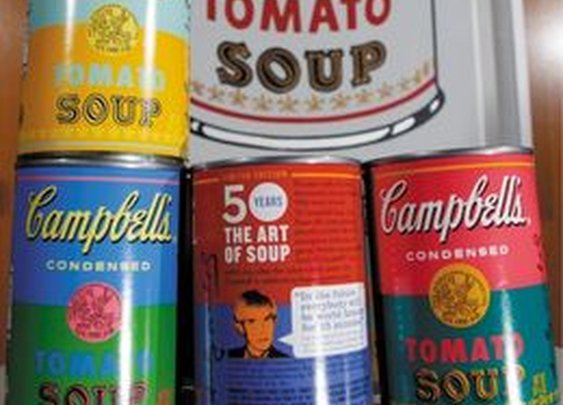 Campbell's soup reunited with Warhol