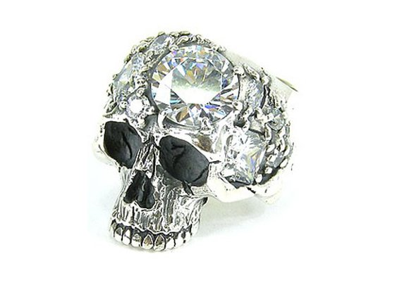 Black Boots Mix Stone Skull Ring « BusyWorkBlog