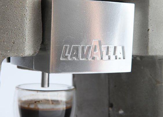 Unusual Concrete Espresso Machine by Linski Design   Design Milk