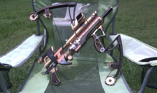 Genway Arms Hydraulic Assist Bow Gun Steampunk by IroncladCairo