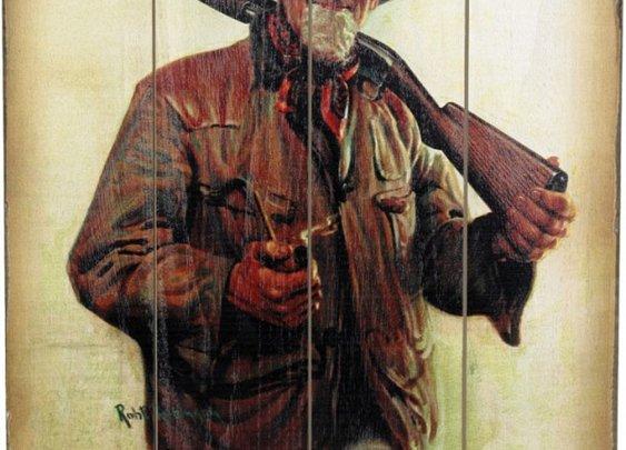 "Vintage Winchester Sign-""Old Hunter""  |  White Wing Label"