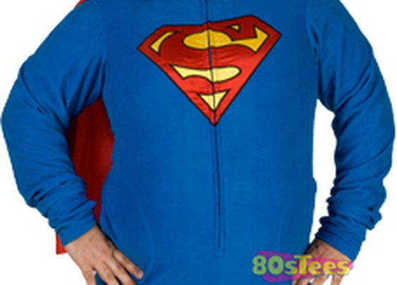 Superman Caped Footie Pajamas