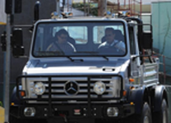 Arnold's  $250,000 Mercedes Unimog