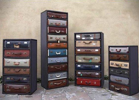 Second-Hand Suitcases Dresser
