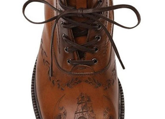 McQueen men's tattoo boots