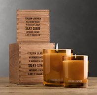 Italian Leather Filled Candle | Candlelight & Scent | Restoration Hardware