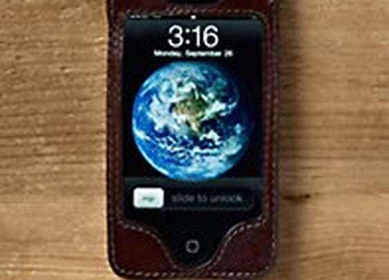 Artisan Leather iPhone® 4 and 4S Cover Chocolate | Restoration Hardware