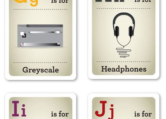 Design nerd flash cards.
