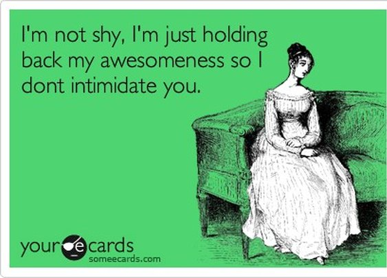 Shy Awesomeness