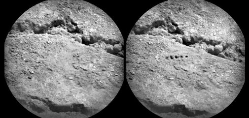 Curiosity Rover Bores Holes in Mars Soil with Laser Beam: Scientific American Gallery