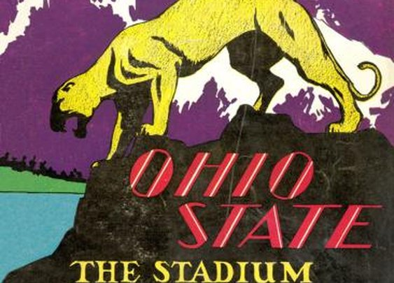 Awesome Ohio State football program from 1930