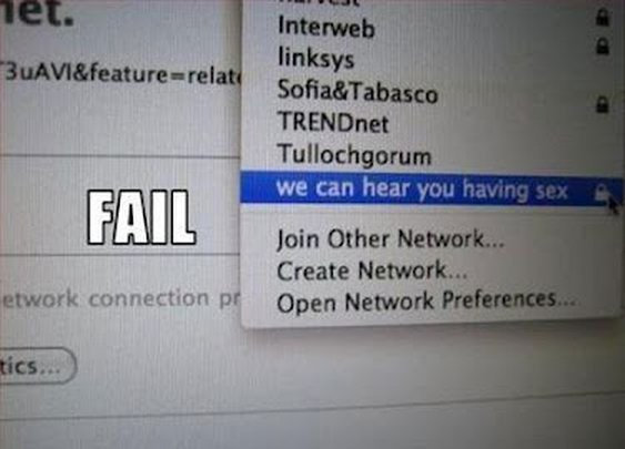 Communicating via Wi-Fi Network Names ~ Damn Cool Pictures