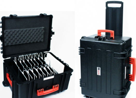 InSync travel case charges up to 16 iPads at once