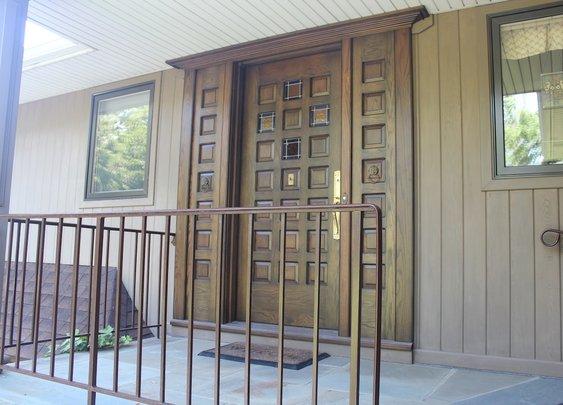 Custom Solid Oak Front Entree Door. by RJ Hoppe Inc.   CustomMade.com