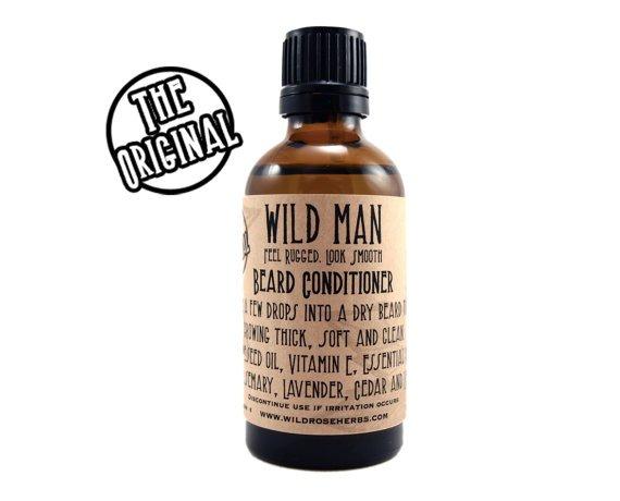 Beard Conditioner Oil Wild Man Beard Softener by WildRoseHerbs
