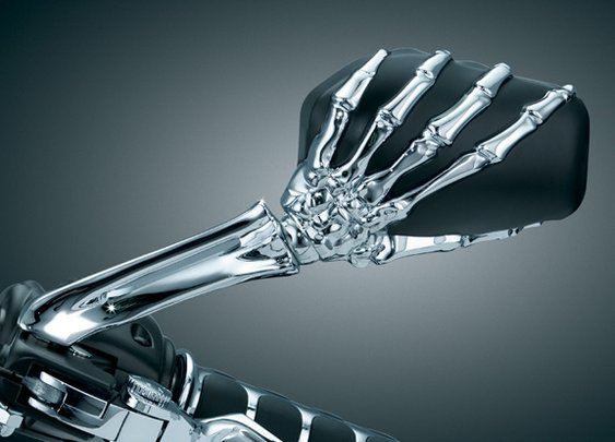 Kurykyn Skeleton Hand Mirror