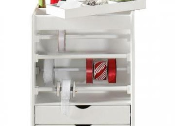 Stanton Wrapping Cart - Wrapping Cart -  Storage Carts And Chests -  Storage And Display | HomeDecorators.com