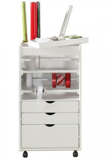Stanton Wrapping Cart - Wrapping Cart -  Storage Carts And Chests -  Storage And Display   HomeDecorators.com