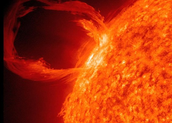 The power of the sun: Now Nasa reveals VIDEO of a 500,000 mile long 'solar whip' that caused an aurora on earth