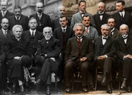 Twenty-nine of history's most iconic scientists in one photograph - now in color!