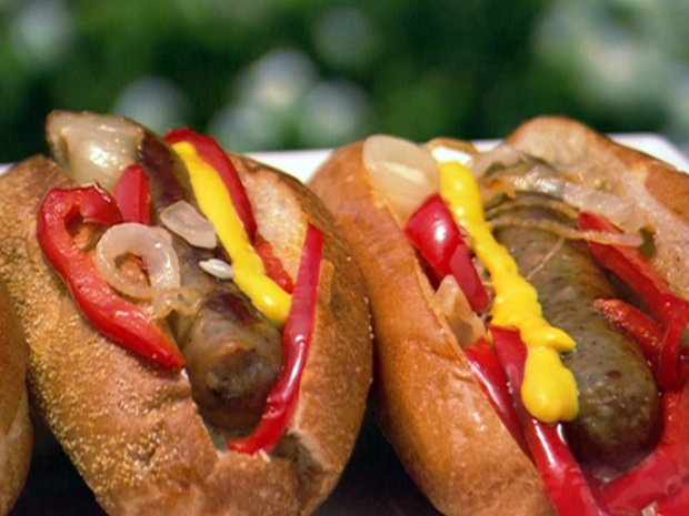Midwestern-Style Beer Brats Recipe :   : Recipes : Food Network