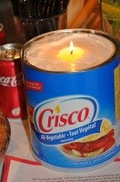 "How to Make an ""Everlasting Candle"" from Crisco"