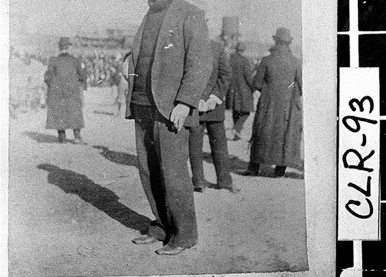 """Glenn """"Pop"""" Warner in 1895, his first year as football coach of the University of Georgia"""