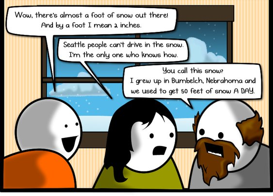 Every time it snows in a big city (or at all really...)