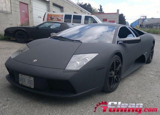 Lamborghini Murcielago Gets a Matte Wrap   CleanTuning.com