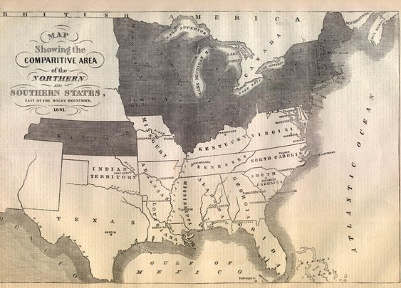 Map of the Confederacy