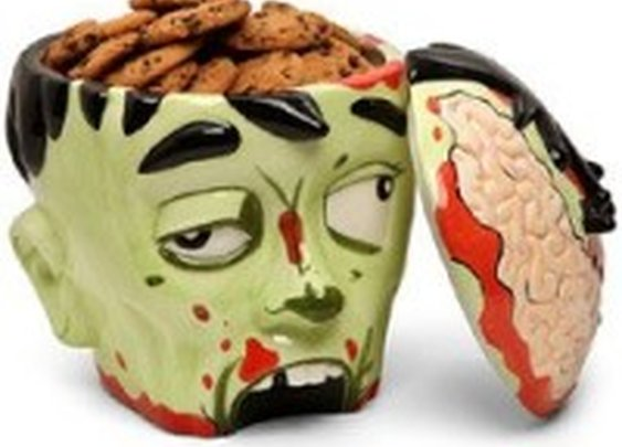 Zombie Head Cookie Jar: Spook your guests | NomNomGadgets.com