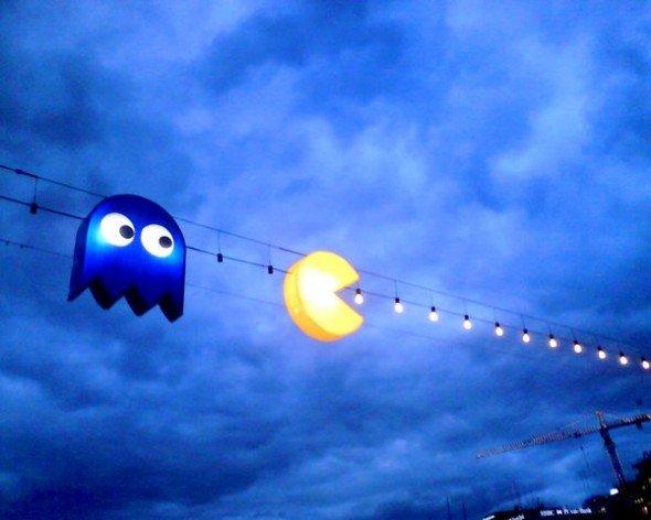 Pac-Man Street Lights