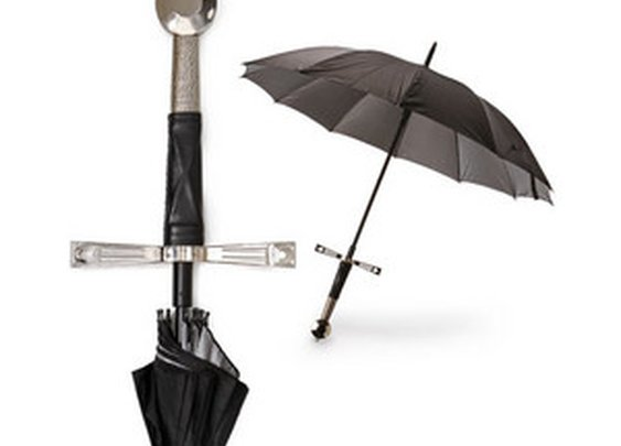 ThinkGeek :: Broadsword Handle Umbrella