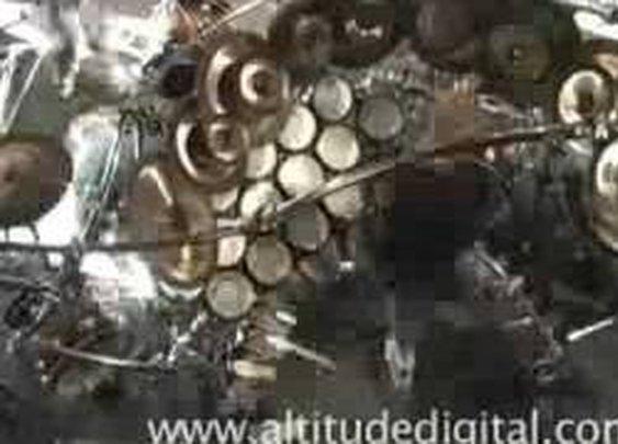 Terry Bozzio Drum Kit Setup Time Lapse
