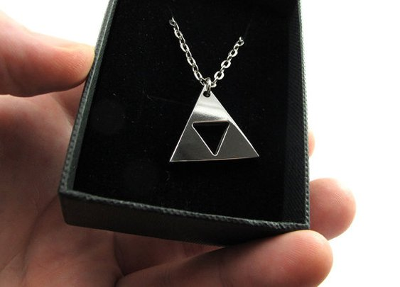 Legend of Zelda 1 Triforce  Polished Stainless Steel by milkool