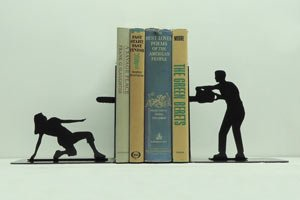Dramatic Bookends by Knob Creek Metal Arts