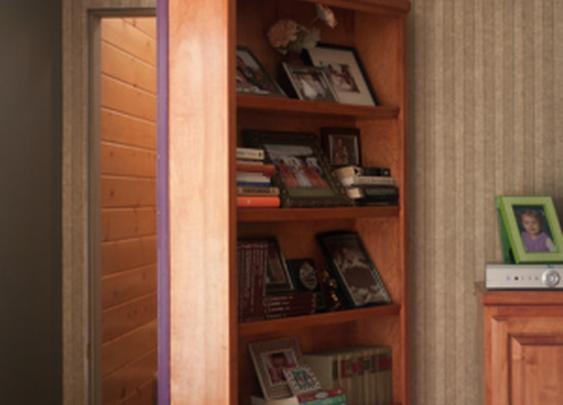 Secret Bookcase Door to Rec Room