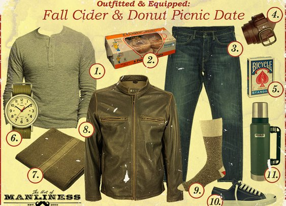 Outfitted & Equipped: Fall Cider & Donut Picnic Date | The Art of Manliness