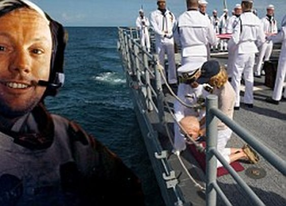 Neil Armstrong: First man on the moon buried at sea in military service    Mail Online
