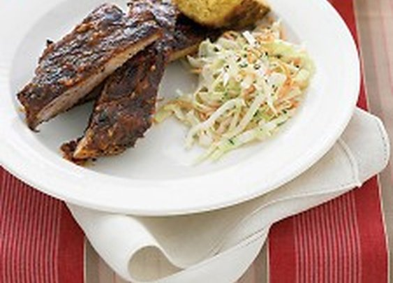 Grilled Spare Ribs with Barbecue Sauce - Martha Stewart Recipes