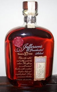 Sku's Recent Eats: Whiskey Wednesday:  Jefferson Presidential Select and the Cult of Stitzel-Weller