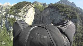 "Jeb Corliss "" Grinding The Crack"" - Wingsuit flight"